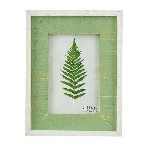 Distressed Green Wooden Photo Frame