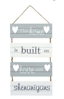 This Home Is Built... Sign
