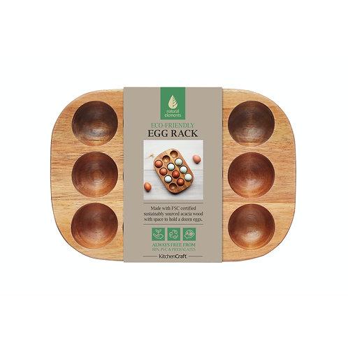Acacia Wood Egg Rack