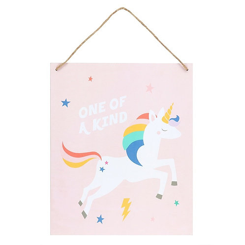 One Of A Kind Unicorn Hanging Sign