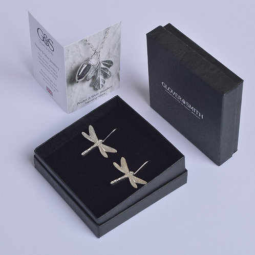 Pewter Dragonfly Earrings