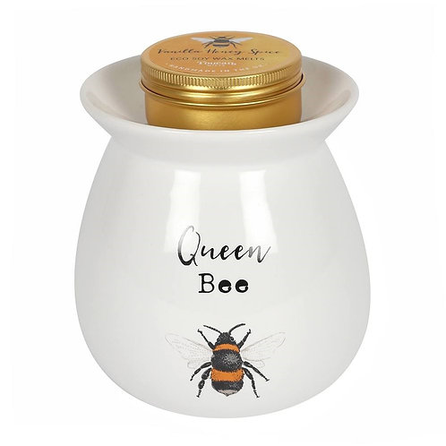 Queen Bee Wax Melt Burner Gift Set