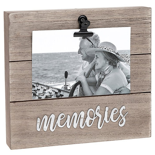 Memories Wooden Block Clip Frame