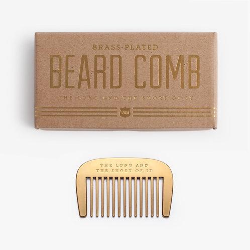 Brass Plated Beard Comb