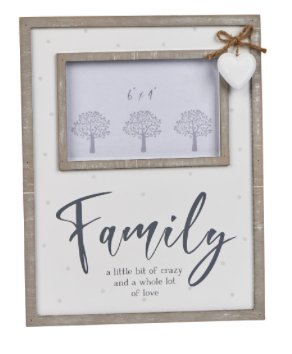 Family Wooden Photo Frame With Heart