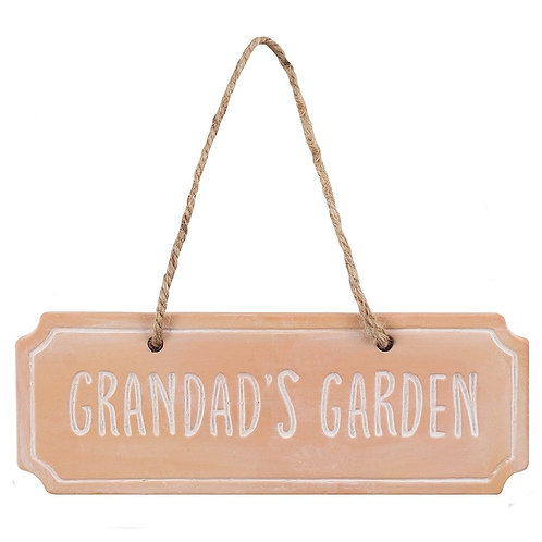 Grandad's Garden Terracotta Hanging Sign