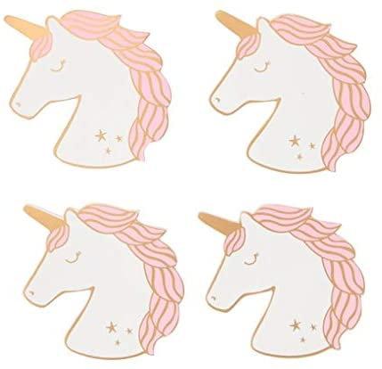 Rainbow Unicorn Coasters - Set of 4