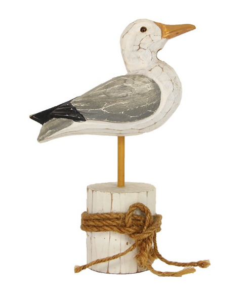Carved Wooden Seagull Ornament
