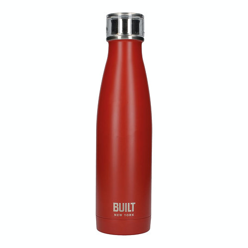 Double Walled Stainless Steel Water Bottle Red
