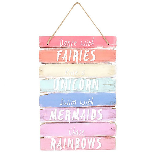 Dance With Fairies Hanging Sign