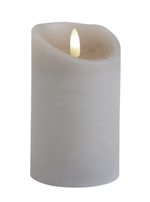 Dancing Flame Dove Grey LED Wax Candle