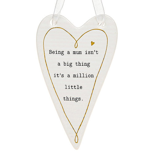 Being A Mum Ceramic Heart