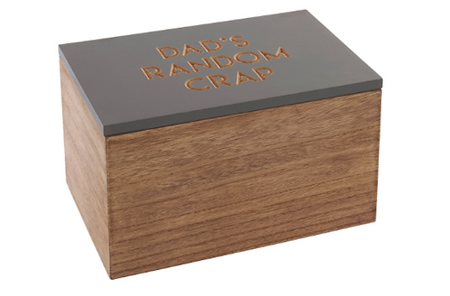 Dad's Random Crap Wooden Box