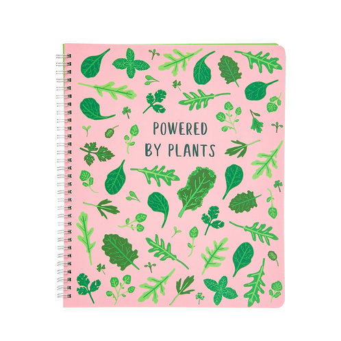 Powered By Plants A4 Lined Notebook