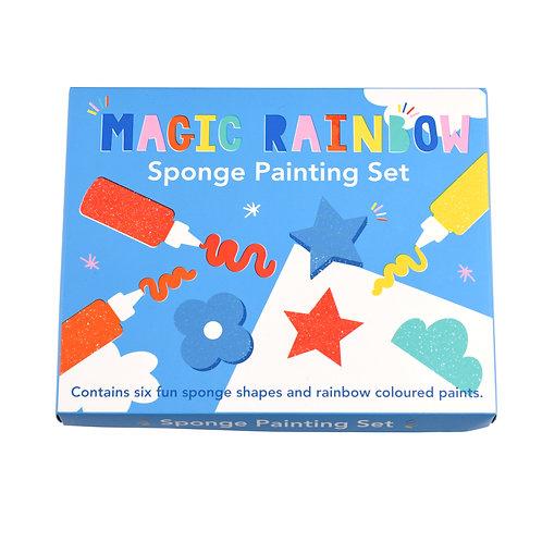 Magic Rainbow Sponge Painting Kit