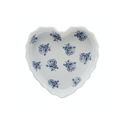 Vintage Indigo Heart Dish