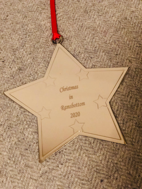 Ramsbottom Christmas Star Metal Decoration