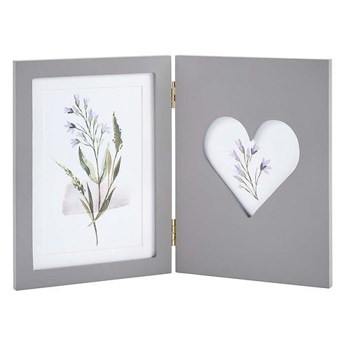 Grey Folding Picture Frame