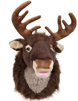 Singing Reindeer Head Wall Decoration