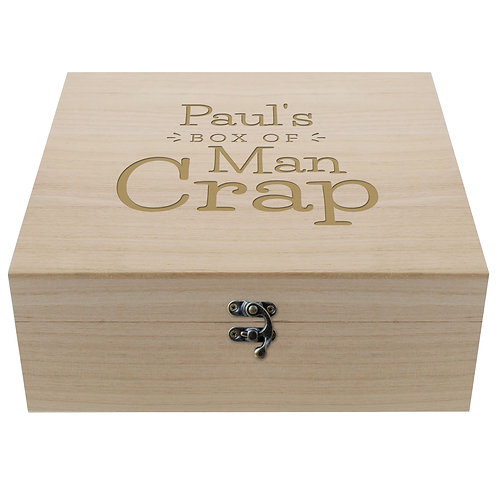 Personalised Box Of Man Crap