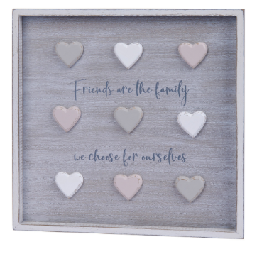 Friends Are The Family Wall Plaque
