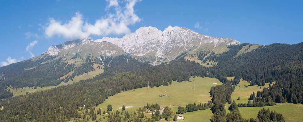 Wonderful landscape at Presolana mountai