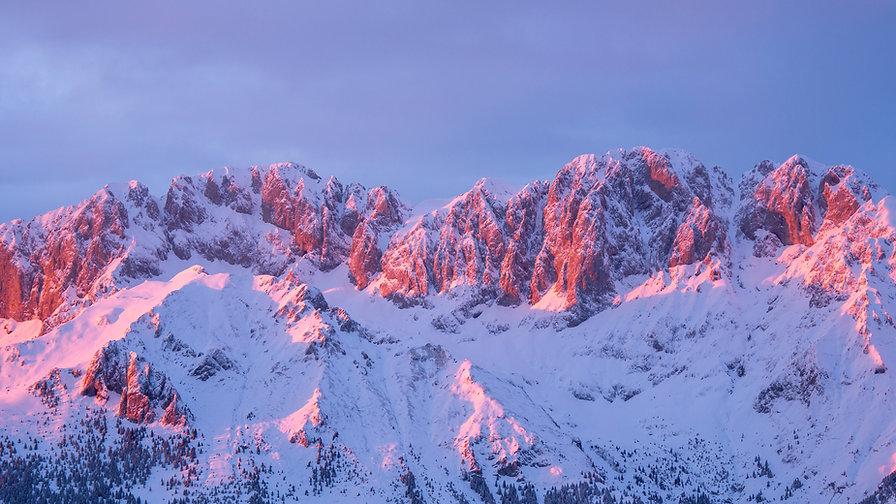 Presolana is a mountain range of the Oro