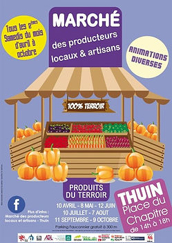 Marché des producteurs locaux et artisans - Thuin
