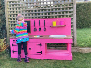 Pink Bespoke Mud Kitchen