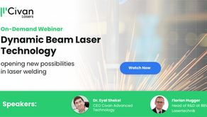 On-Demand Webinar: Dynamic Beam Laser technology opening new possibilities in laser welding