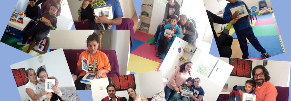 Unos de los niños y las familias de Fundación Abriendo Posibilidades