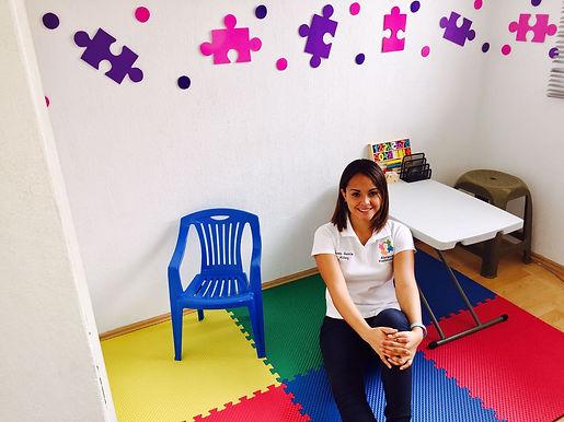 Cuarto de terapia a niños con autismo