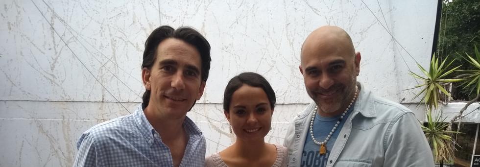 Gerardo Gaya, Karen García Alday y  Héctor Suárez Gomís