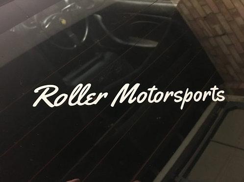 Roller Motorsports Cut Stickers