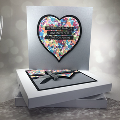 Bespoke heart birthday card
