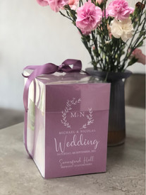Wedding invitations in handmade presentation box