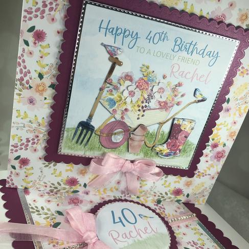 Gardening theme birthday card