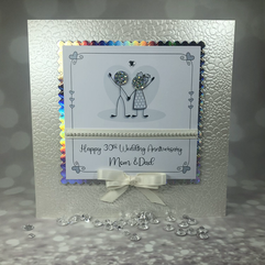 30th pearl wedding anniversary card
