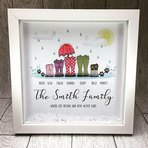 Personalised 'Welly' Framed Print