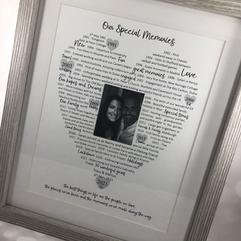 Bespoke anniversary frame