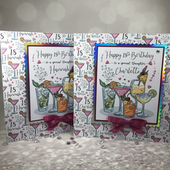 twin 18th cocktail cards