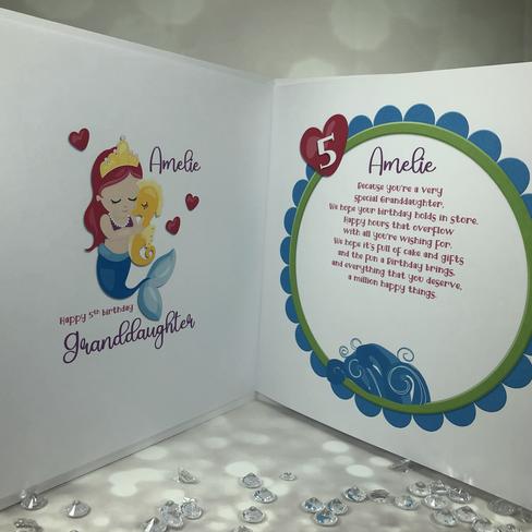 inside mermaid card