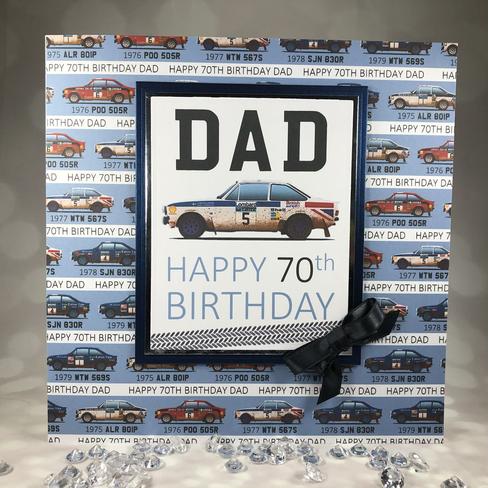 Bespoke Dad classic racing car card
