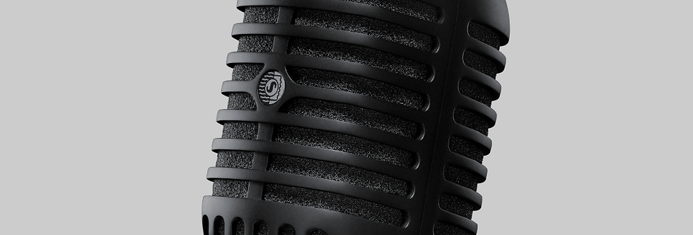 Super 55-BLK Deluxe Vocal Microphone Pitch Black Edition