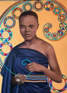 Maasai Woman with Beads