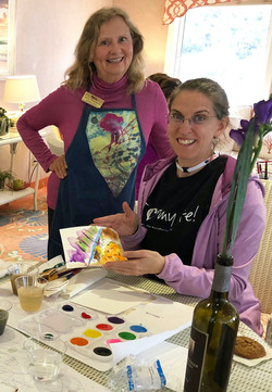 First watercolor workshop on the Cruise