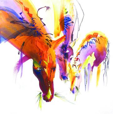 Paints Grazing III