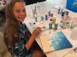 """Sarah Grace acrylic pour """"Surf"""""""