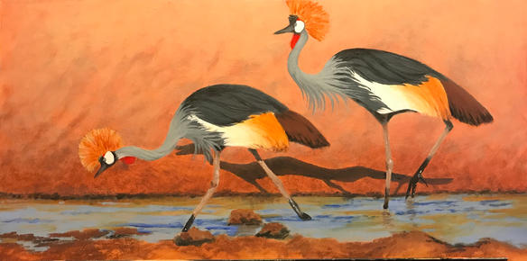 Gray Crested Crane