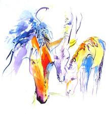 Paints Grazing II